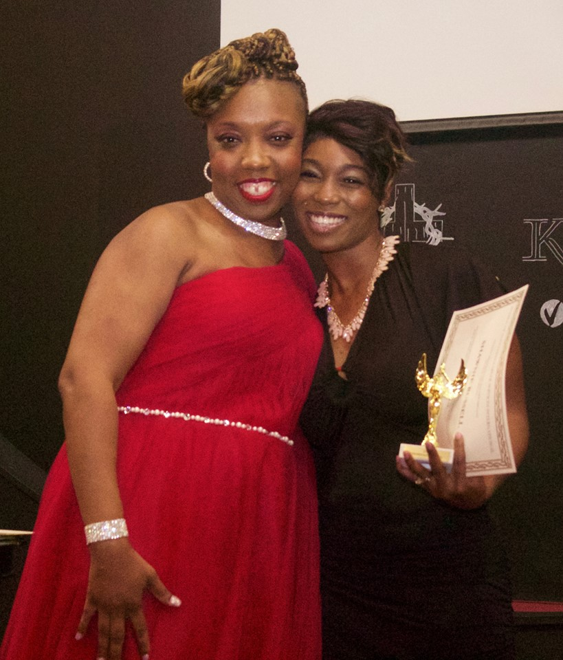 Lakeisha and an Awardee