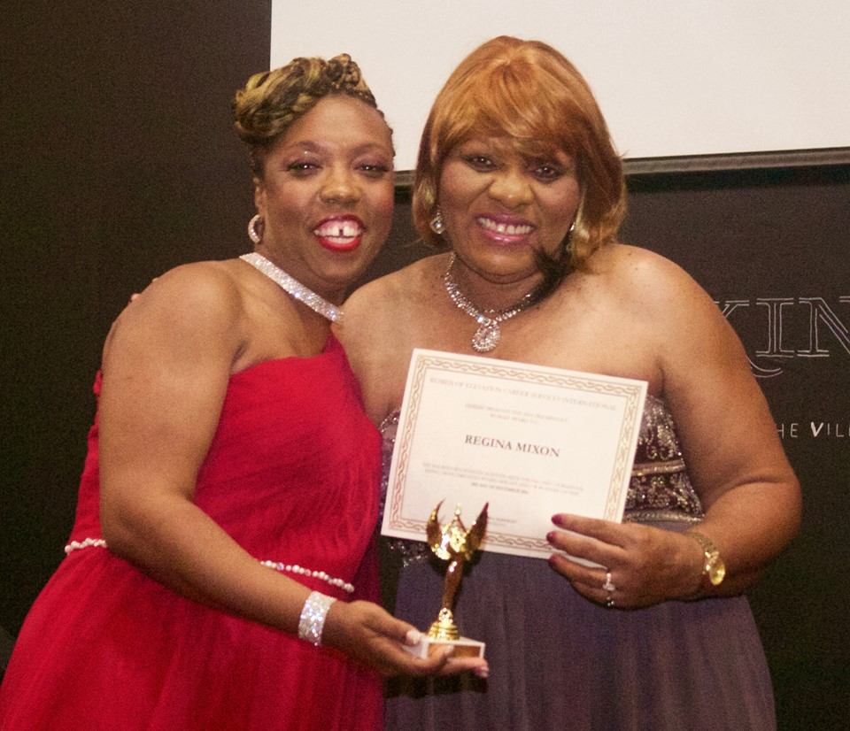 Lakeisha and Awardee Regina Mixon