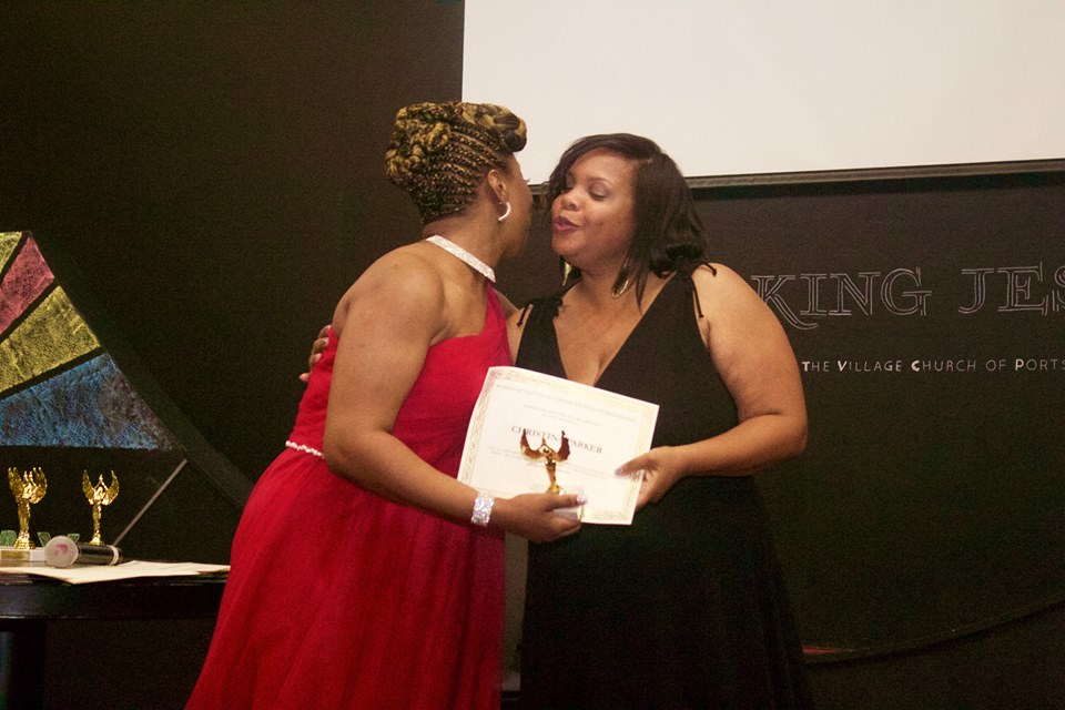 Lakeisha Embracing Awardee Christina Parker